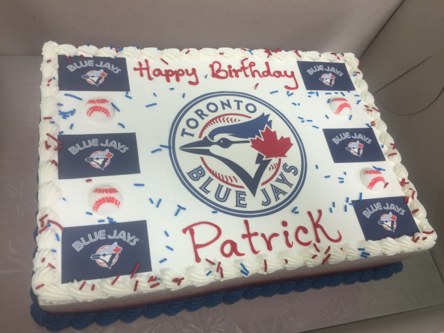 Blue Jays Slab Cake